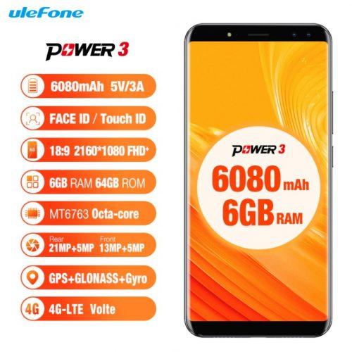 Todos los datos del Ulefone Power 3