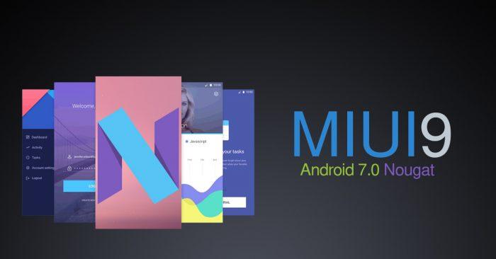 MIUI9 con Android 7