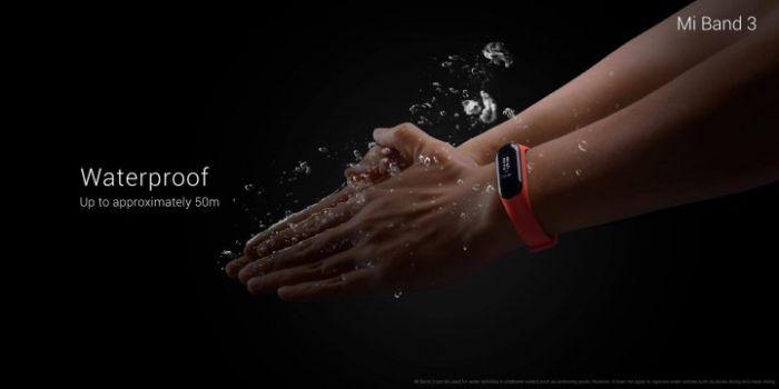 MI Band 3 waterproof