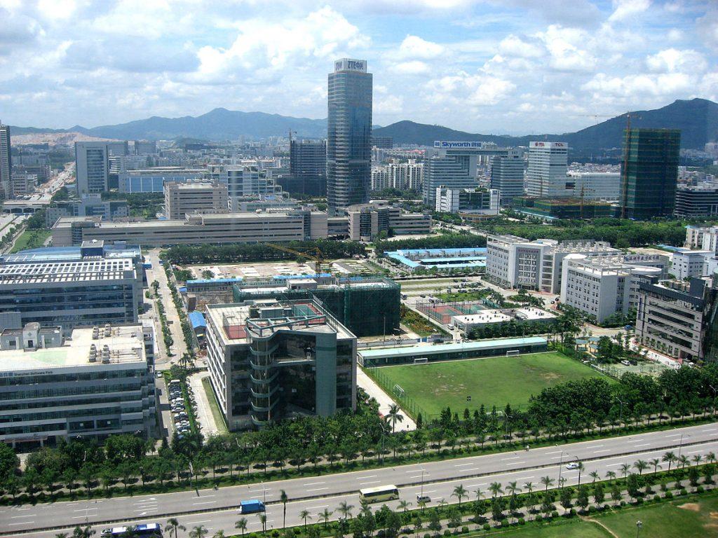 Oficinas de ZTE en Shenzhen