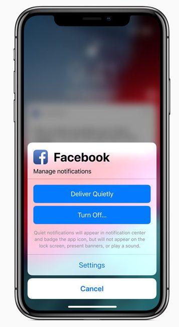iOS 12-notificaciones