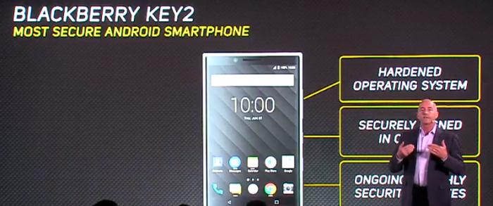 Blackberry Key2-seguridad