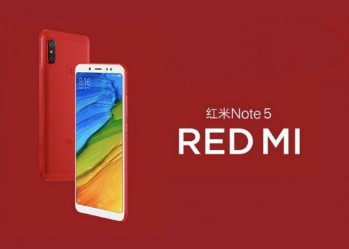 El Xiaomi Redmi Note 5 de color rojo ya disponible en España