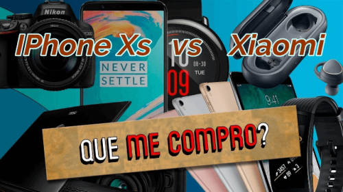 IPhone Xs vs productos de Xiaomi