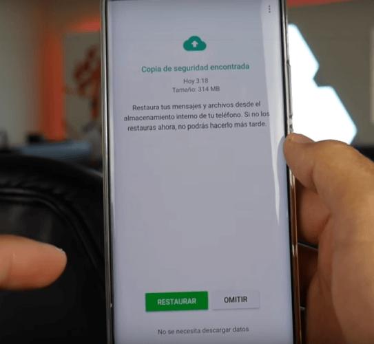 Cómo recuperar mensajes borrados de WhatsApp-copia de seguridad