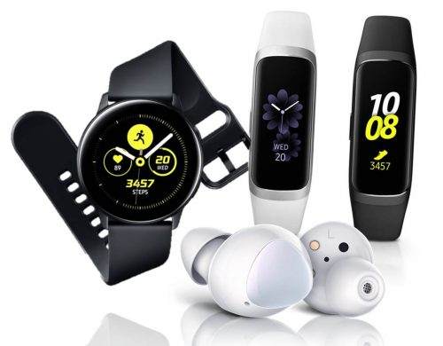 Nuevos wearables de Samsung: Galaxy Buds, Galaxy Watch Active y Galaxy Fit